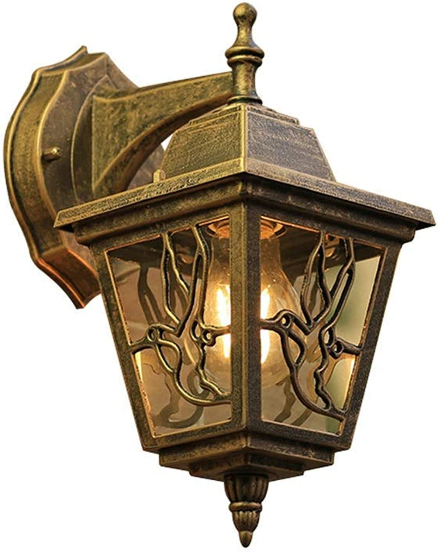 KISlink Vaxiuja-Light European Waterproof Outdoor Doppelkopf Wandleuchte Doppelkopf Lampe Gartenlampe Auenwandleuchte Retro Outdoor Gang Tür Wandleuchte (Farbe  A, Gre  27  18cm)