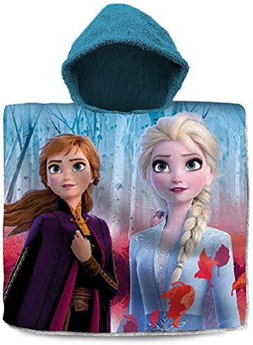 Frozen Poncho Anna & ELSA Handtuch Die Eiskönigin Badetuch Strandtuch Beach Towel
