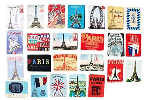 24pcs Belle Aimants décoratifs Magnets -Paris