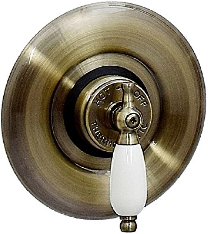 ENKI Duscharmatur mit Thermostat Aufputz verborgen Vintage Design bronzefarbene