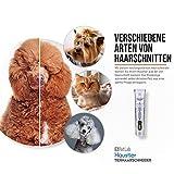 Schermaschine für Hunde Profi Hundeschermaschine Langhaar Schermaschine Hund Katze Tierhaarschneidemaschine Haarschneidemaschine für Hunde Katzen Leise Elektrische Haarschneider Dog Grooming Clippers