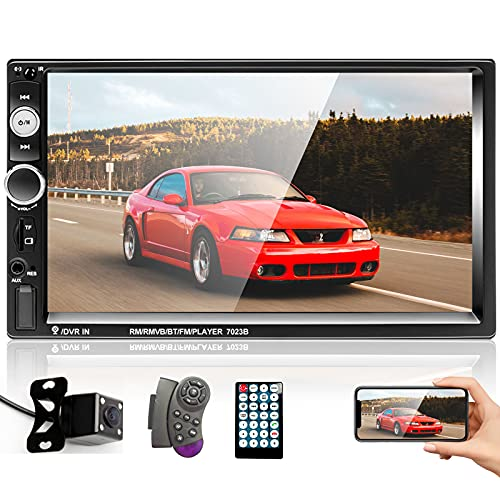 Double Din Car Stereo with Bluetooth and Backup Camera 7 inch HD Touchscreen...