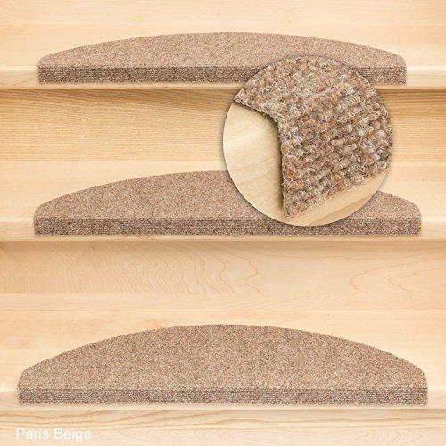 Kettelservice-Metzker Stufenmatte Treppenmatte Paris - Astom Halbrund - 5 aktuelle Farben ! (1 Stk. Beige Halbrund)