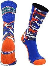 TCK University of Florida Gators Woodland Camo Crew Socks (Royal/Orange/White, Large)
