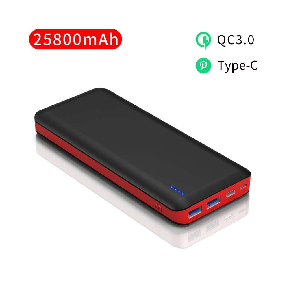 Bateria Externa Movil Carga Rapida 25800mAh Power Bank Alta ...