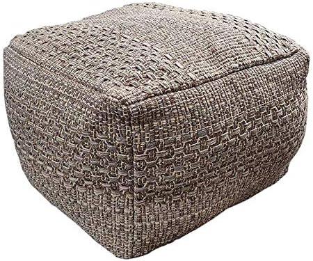 Square Pouf Cheap SALE Start Cover Unstuffed Footstool Rare Ottoman Remov