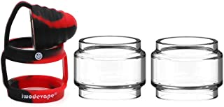 CENGLORY TFV12 Prince Bulb Glass Rings Silicone Anti Slip Band with Attached Drip Tip..