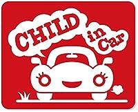 imoninn CHILD in car ステッカー 【マグネットタイプ】 No.25 クルマさん (赤色)