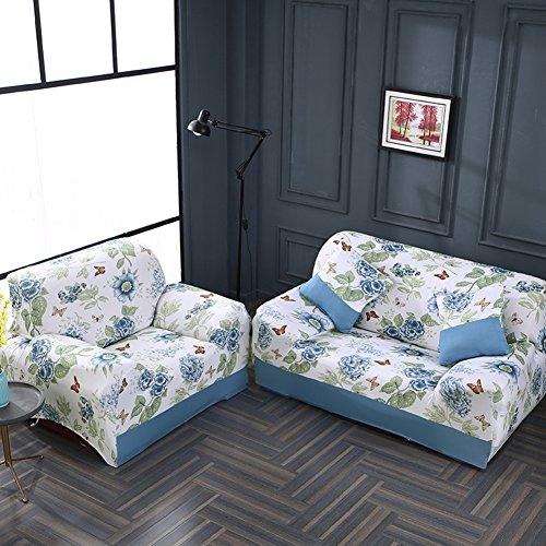 JiaQi Four Seasons Funda de sofá,Cubierta Universal del sofá,Elástico Antideslizante Protector de los Muebles para 1 2 3 4 Cojines sofá Guardapolvo-O Silla