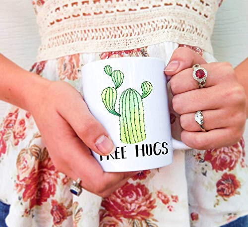 N\A Abrazos Gratis Cactus Taza de Cactus Cactus Abrazos Gratis Taza de Abrazos Gratis Tazas de Cactus Taza de Cactus Taza Linda de Cactus Taza Divertida de Cactus Cactus