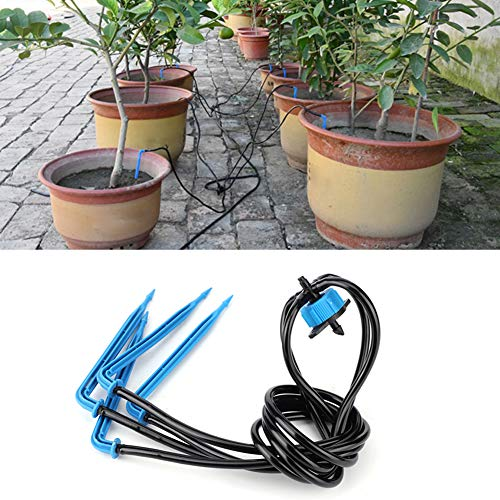 XiangXin Drip Irrigation, Watering Accessories 1 to 4 Long Black Plastic Material Durable Outdoor Watering Long Time Use Irrigation