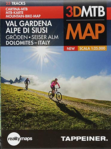 Mountainbike-Karte Gröden / Seiser Alm: Cartina Mountainbike Val Gardena / Alpe di Siusi (Mountainbike-Karten / Cartine Mountainbike)
