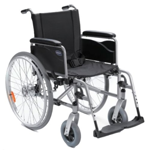 Action1 NG, silbergrau, lang SB41, ST42.5 ,PU, Tr. Br. f.BG, Handbetriebene Standard-Rollstühle mit Trommelbremse
