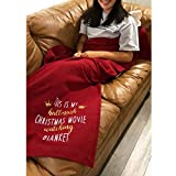 This is My Christmas Movie Watching Blanket Christmas Plush Throw Blanket for Couch Sofa Bed,43x71 Inches