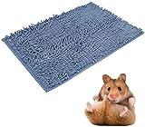 Lit pour cochon d'Inde - Coussin carré en chenille - Tapis d'entraînement antidérapant super absorbant pour petits animaux
