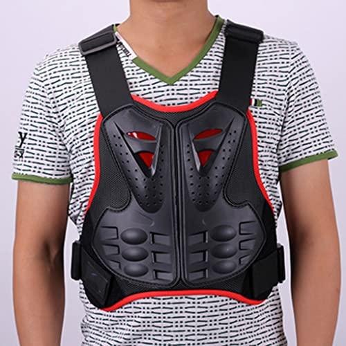 DXMGZ Chaleco Protector del Cuerpo de la Armadura de la Motocicleta, Chaqueta de la Camisa Protectora del Cuerpo del Pecho Adulto, Chaleco Deportivo de Los Hombres Red L