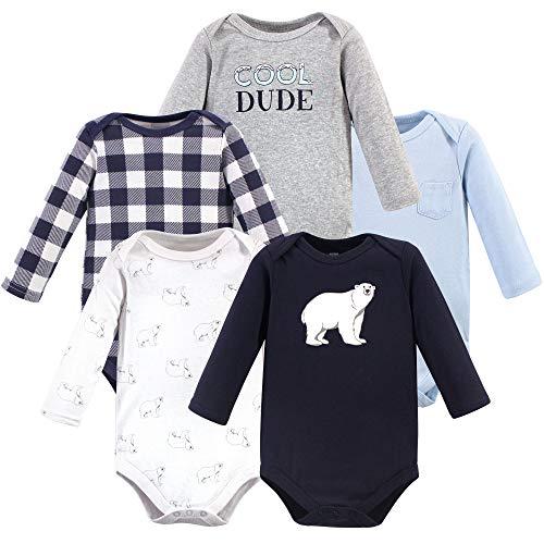 Hudson Baby Boys Unisex Baby Long Sleeve Cotton Bodysuits