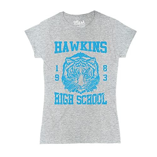 MUSH T-Shirt Hawkins High Shool Stranger Things - Film by Dress Your Style - Donna-S-Grigio