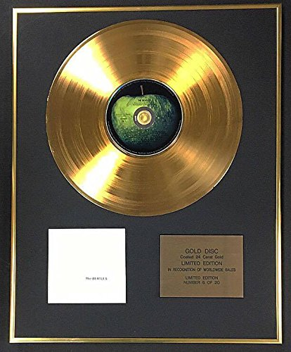 Century Music Awards The Beatles – Exklusive limitierte Auflage mit 24 Karat Gold – The White Album