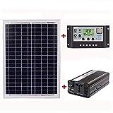 Ctzrzyt 18V20W Panel Solar 12V / 24V Controlador 1500W Inversor...