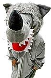 Wolf-Kostüm, F49 Gr. M-L, Fasnachts-Kostüme Tier-Kostüme, Wolfs-Kostüme Wölfe Kostüme...