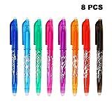 Bolígrafo Borrable, GXR 0.5 mm Bolígrafos de Tinta de Gel Borrables para Usos Diarios de La escuela/Hogar/Oficina(8 Colores)