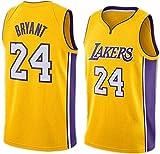 DCE Herren Trikot Kobe Bryant NO. 24 Los Angeles Lakers Sommer Trikots Basketball Uniform Stickerei...