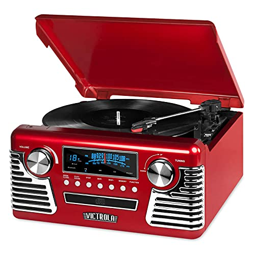 Victrola 50's Retro Bluetooth Record Player &...
