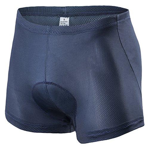 Padded Biking Underwear Men Cycling Shorts 4D Gel Pad Bicycle Pants Navy Blue Large