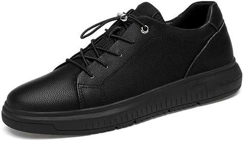 Herrenschuhe, Leder-Frühlingsschüler Flat Loafers, Casual Turnschuhe, Mens Walking Gym Schuhe Trekking Travel Schuhe Radschuhe,a,47