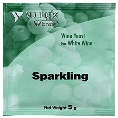 Youngs Sparkling Wine Yeast 5g - treats 23L / 5 Gallon