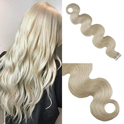 Moresoo Platinum Blonde Body Wave Extension