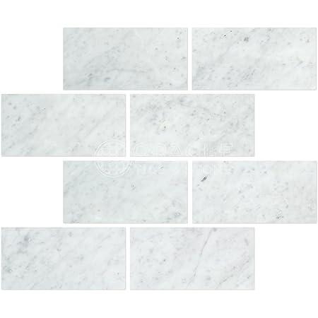 Carrara Marble Italian White Bianco Carrera 3x6 Marble Subway Tile Honed Marble Kitchen Tile Amazon Com
