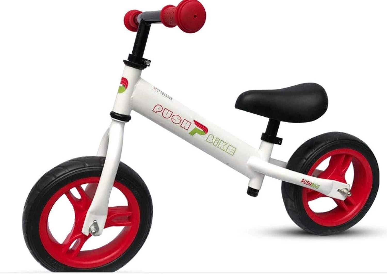 KuanDar Sports 12 Kinderfahrrad, Balance-Fahrrad, Keine Pedale, Gummireifen Und Verstellbarer Lenker
