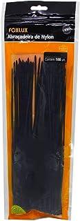 Abraçadeira Foxlux – Nylon – 140 x 2,5mm – Proteção UV – Embalagem Ziploc – Pacote com 100 unidades – Preta