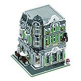 Myste Bloques de construcción modular de casa 3369, de 3 capas, estilo gótico, arquitectura europea, edificios modulares, arquitectura, modelo casa, compatible con casa Lego