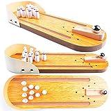 AGREATLIFE Bowling Original Spiel - Abwechslungsreiches Bowling Spiel aus Holz
