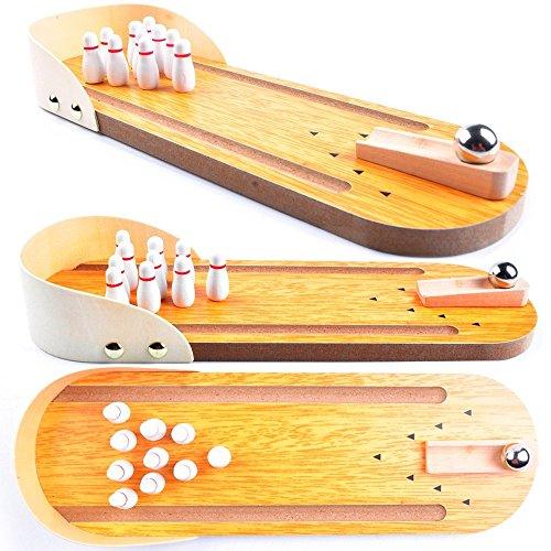 AGREATLIFE Bowling Original Spiel - Abwechslungsreiches Bowling Spiel aus Holz - Wurfspiel aus Holz - Lustiges Kinder Spiel für Draussen - Familien Gartenspiel - Outdoor Holzspiel