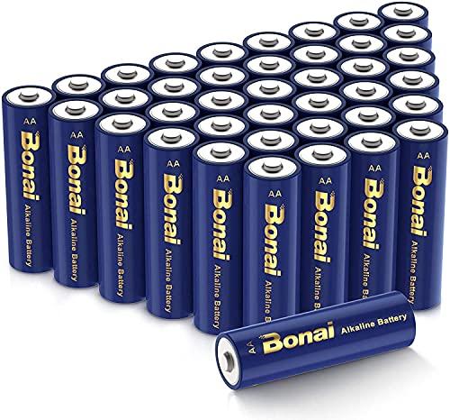 BONAI 乾電池 単3形 アルカリ電池 40個セット,強力な耐久性と長いバッテリー寿命
