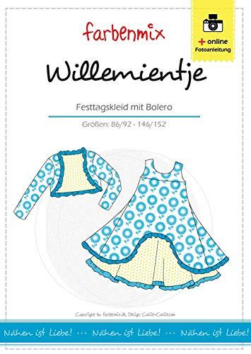 Farbenmix Willemientje Schnittmuster (Papierschnittmuster für die Größen 86/92-146/152) Festkleid