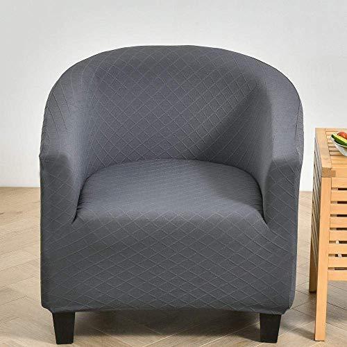 Rutschfeste Sofabezug Wannenstuhlbezüge, High Stretch Möbelschutz, Sessel Sofa Schonbezug-Dark_grey