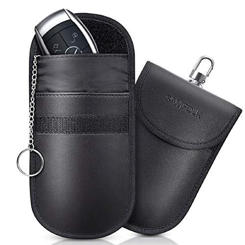 Bolsa Faraday para Llaves de Coche, Funda de Bloqueo de señal de Llave de Coche Samfolk, Caja de Seguridad con Llave de Entrada sin Llave, Caja de Seguridad RFID con Protector