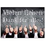 A4 XXL Dankeskarte DAUMEN HOCH mit Umschlag - edle Klappkarte für alle Anlässe wie Geburtstag...
