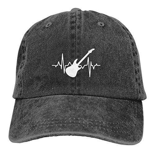 ONGH Baseball Cap Bass Guitar Heartbeat 1 Herren Snapback Casquettes Einstellbare Baseballkappe
