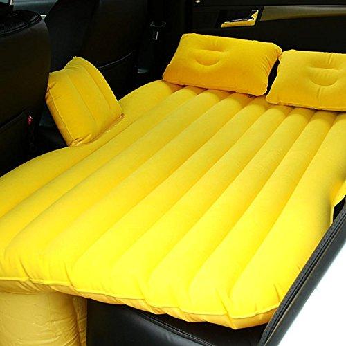 YL Tornio per Auto Che Si Affolla Auto Materassi Gonfiabili per Auto Bed Bed Bed Bed Bed Mattresses,Giallo