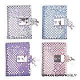 Rinco Teen Girl's Locking Secret Diary Journal with Sequins