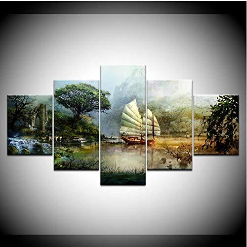 WJBKY Die Guild Wars 5 Stück Wandkunst Leinwanddruck Moderne Poster Modulare Kunst Malerei Für Wohnzimmer Wohnkultur @ L