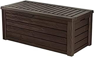 Keter Westwood 150 Gallon Resin Large Deck Box-Organization and Storage for Patio Furniture, Outdoor Cushions, Garden Tool...