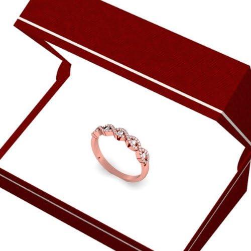 Dazzlingrock Collection 0.25 Carat 14K Gold Round Diamond Ladies Bridal Stackable Anniversary Wedding Swirl Ring 1//4 CT ctw
