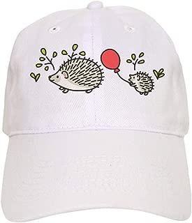 CafePress Baby Hedgehog's Red Balloon Baseball Cap